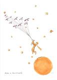 Petit Prince et les Oiseaux Sauvages Sérigraphie par Antoine De Saint Exupery
