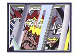 Reflections on Crash Reproduction d'art par Roy Lichtenstein