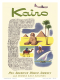 Kairo (Cairo) Egypt - via Beirut with Clipper Planes - Cheops Pyramid
