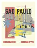 Sao Paulo  Brazil - Braniff International Airways