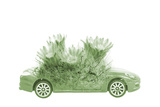 Save the World Concept of Car and Plant