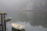 Dock  Boathouse in Fog  New Harbor  Maine  USA
