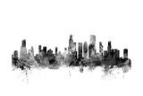 Chicago Illinois Skyline Reproduction d'art par Michael Tompsett