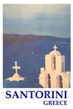 Santorini  Greece - View from Oia Retro Style