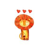 Lion Love Watercolor