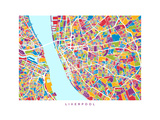 Liverpool England City Street Map