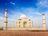 Indian Famous Landmark - India Travel Background Taj Mahal Agra  Uttar Pradesh  India