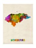 Honduras Watercolor Map