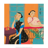 Chinese Folk Art - Girls Talking on the Phone