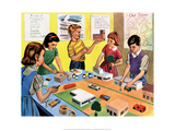 Vintage Classroom Poster -School Lesson