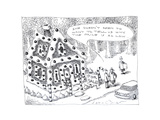 Candy house being sold - Cartoon