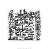 Folk Art Silhouette of House