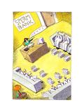 Milk men at sperm bank - Cartoon