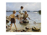 Boys Playing on the Beach  1884