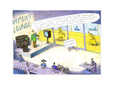 Airport lounge singer - Cartoon