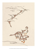 Japanese Drawing of Flying Geese