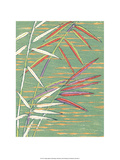 Japanese Textile Woodblock  Bamboo Steams