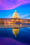 Capitol Building Washington DC Sunset at US Congress USA