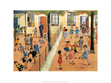Vintage Classroom Poster -Girls & Boys Playground