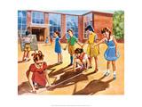 Vintage Classroom Poster - School Class Building Models