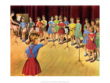 Vintage Classroom Poster- The School Band