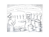 Chef preparing lobster - Cartoon
