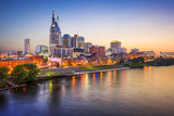 Nashville  Tennessee  USA Downtown Skyline on the Cumberland River