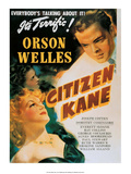 Vintage Movie Poster - Orson Welles in Citizen Kane