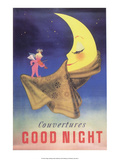 Vintage Poster Advertising Blankets  Sleepy Moon