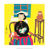 Chinese Folk Art - Cat Lady