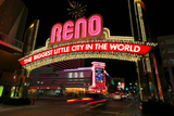 Reno  Usa - August 12: the Biggest Little City in the World Sign over Virginia Street at Night On