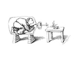 captionless(Man in bottle constructing ship) - Cartoon