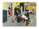 Vintage Classroom Poster - Business at the Office