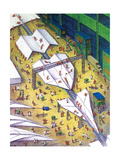 Paper airplane making facility - Cartoon