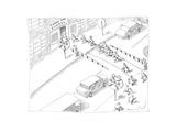 School Crossing - Cartoon