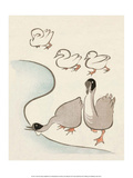 Japanese Drawing of Ducks and Geese