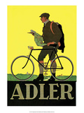 Vintage Bicycle Poster  Adler