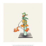 Ikebana Arrangement of Maple & Chrysanthemum