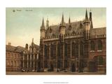 Vintage Postcard  Hotel de Ville  Bruges