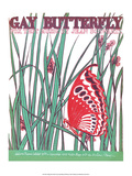 Vintage Music Sheet  Gay Butterfly