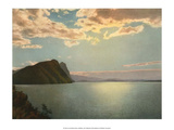 Sunset  Lake des Quatre-Cantons  Switzerland  1949