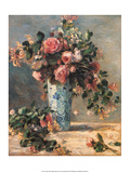 Roses & Jasmine in a Delft Vase  1881