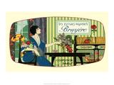 Vintage Art Deco Label  Les Fleurs Nicoises