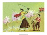 Vintage Golf Poster  Woman Golfer