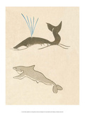 Japanese Drawing of Whales