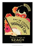 Vintage Art Deco Label  Eau de Cologne