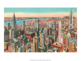 Vintage New York Postcard - Midtown Skyscrapers