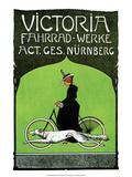 Vintage Bicycle Poster  Victoria