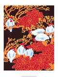 Chinese Folk Art - Chickens in the Trees