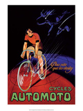 Vintage Bicycle Poster  Automoto